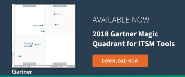 New 2018 Gartner Magic Quadrant for ITSM Tools is Out!