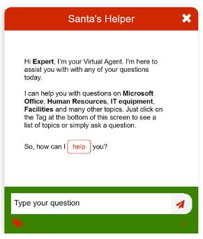 EasyVista Chatbot Customizations Holiday 2
