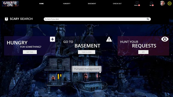 Halloween IT Self-Service Portal Custom Portal
