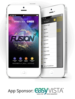 FUSION 16 ITSM event mobile app