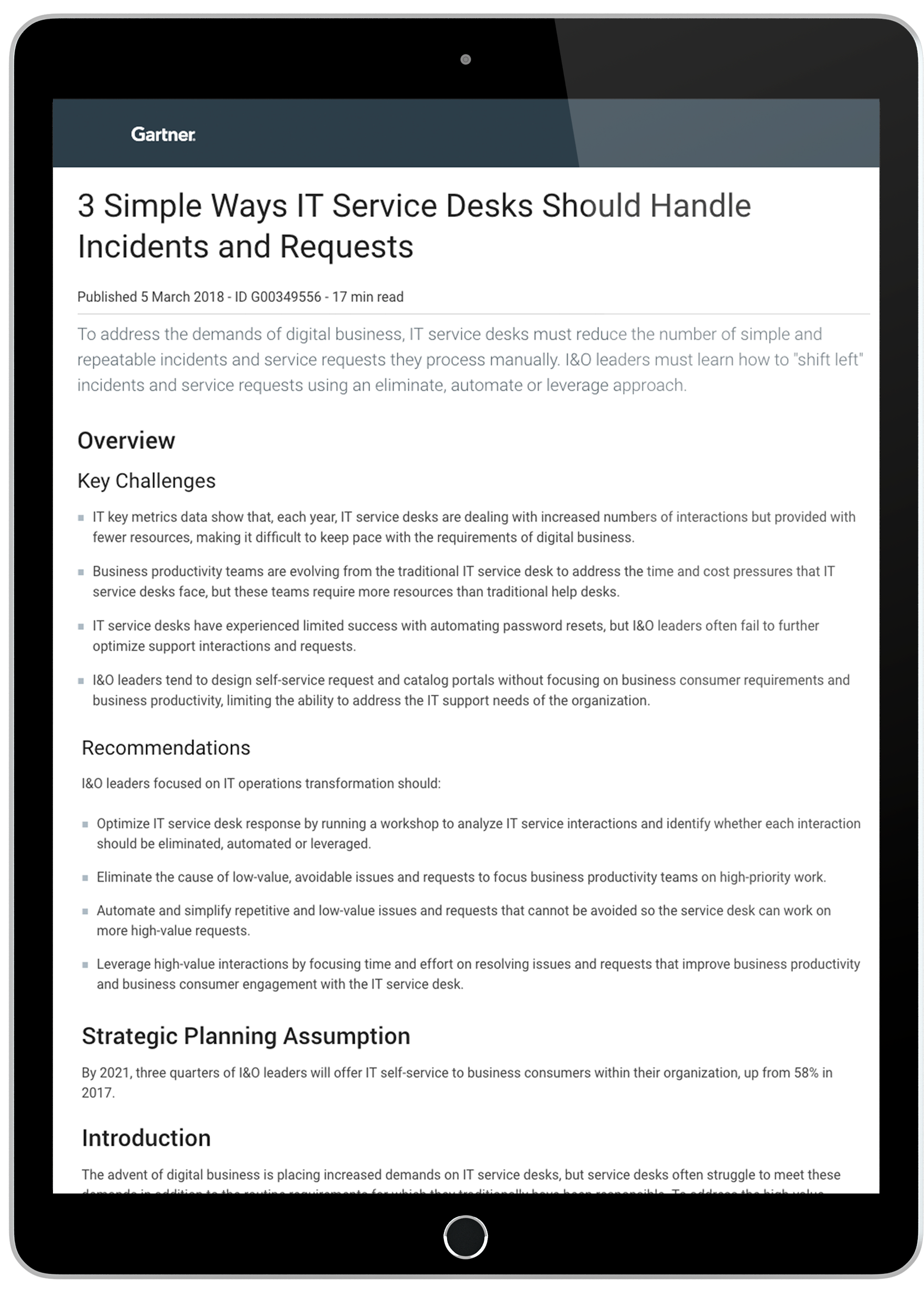 Gartner Report 3 Simple Ways IT Service Desks Should Handle Incidents and Requests