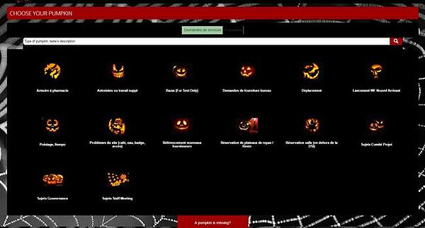 Halloween Custom IT Self-Service Portal