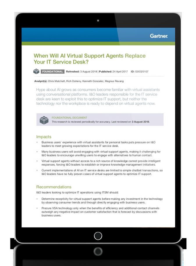¿Cuándo reemplazarán los agentes de soporte virtual a tu service desk TI?