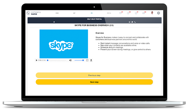 EasyVista Self Help Knowledge Management Platform